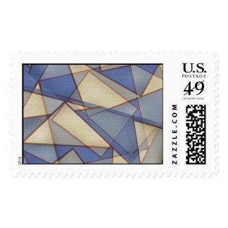 Triángulos abstractos timbres postales