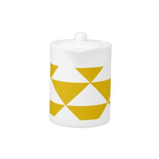 Triángulos amarillos y blancos de oro