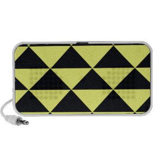 Triángulos amarillos y negros mini altavoz