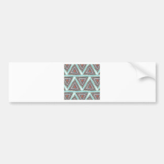 Triángulos aztecas pegatina de parachoque
