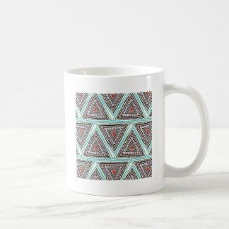 Triángulos aztecas taza de café