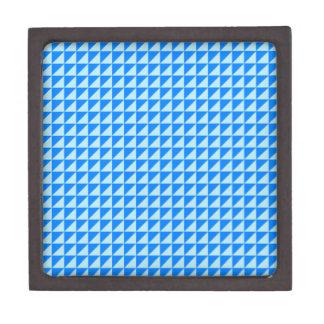 Triángulos - azul y azul de la ventisca cajas de regalo de calidad