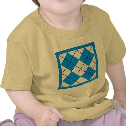 Triángulos - azul y blanco camiseta
