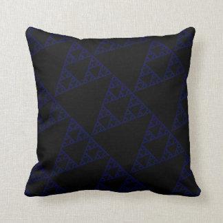 Triángulos azules almohada