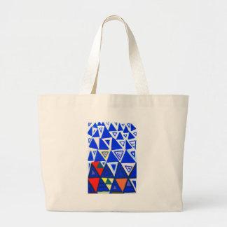 Triángulos azules de levantamiento (expresionismo  bolsas