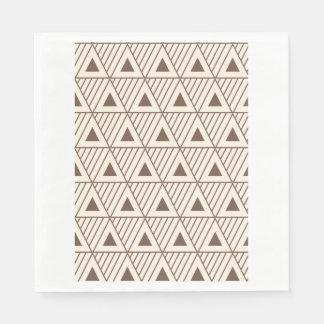 Triángulos beige y marrones servilleta desechable