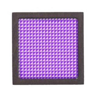 Triángulos - cardo y violeta cajas de recuerdo de calidad