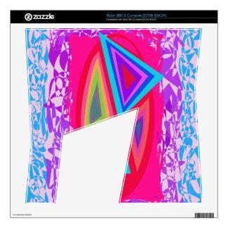 Triángulos coloreados arco iris calcomanías para xbox 360 s