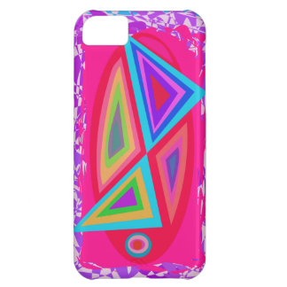 Triángulos coloreados arco iris funda para iPhone 5C