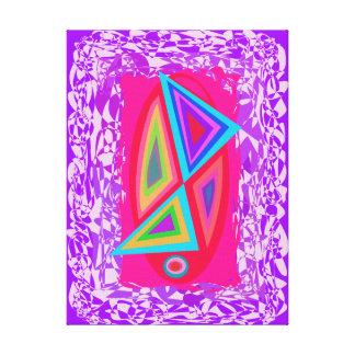 Triángulos coloreados arco iris impresión en lona