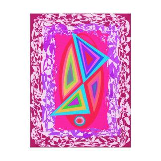 Triángulos coloreados arco iris lona envuelta para galerias