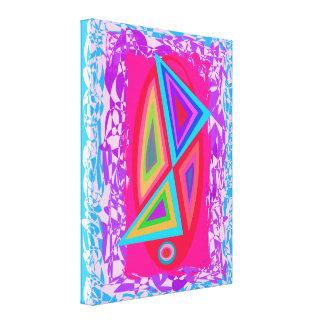 Triángulos coloreados arco iris lienzo envuelto para galerías