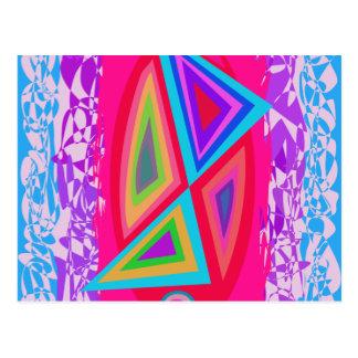 Triángulos coloreados arco iris postales