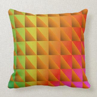 Triángulos coloreados multi cojín