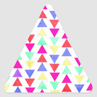 triángulos coloreados pegatina triangular
