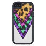 Triángulos coloridos del leopardo iPhone 5 Case-Mate fundas