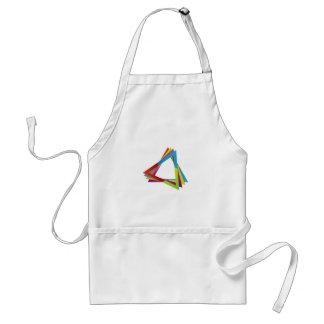 Triángulos coloridos delantal