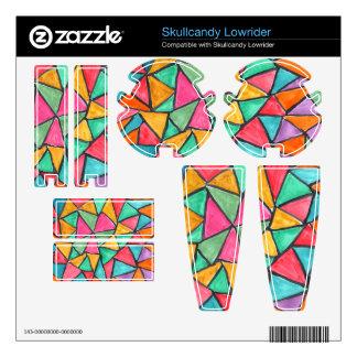 Triángulos coloridos - diseño abstracto de la acua skullcandy lowrider calcomanía