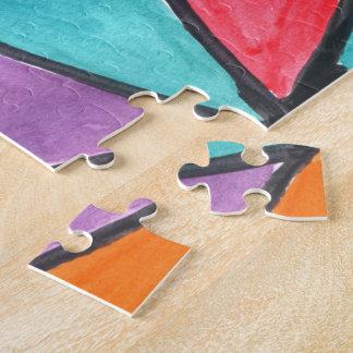 Triángulos coloridos - diseño abstracto de la rompecabezas