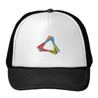 Triángulos coloridos gorra