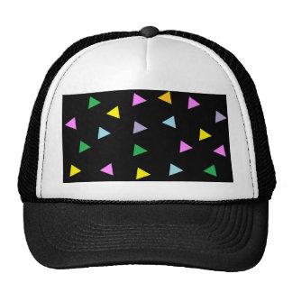 Triángulos coloridos gorro