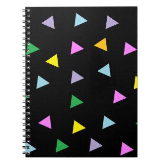 Triángulos coloridos libretas espirales
