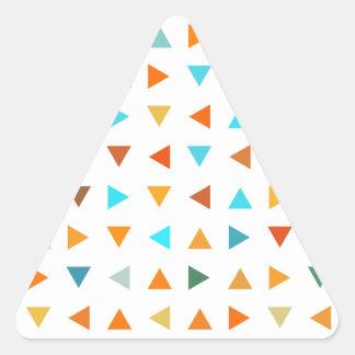 Triángulos coloridos pegatina triangular