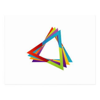 Triángulos coloridos postales