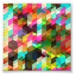 TRIÁNGULOS COLORIDOS SQU del Colorear-Abstracto-Ve Arte Fotográfico