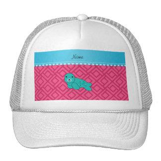 Triángulos conocidos personalizados del rosa del gorra