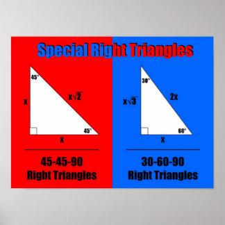 Triángulos correctos especiales póster