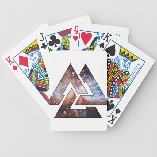 Triángulos cósmicos barajas de cartas