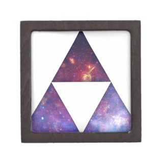 Triángulos cósmicos caja de recuerdo de calidad