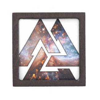 Triángulos cósmicos cajas de regalo de calidad