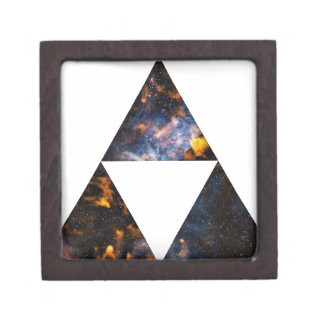 Triángulos cósmicos cajas de recuerdo de calidad
