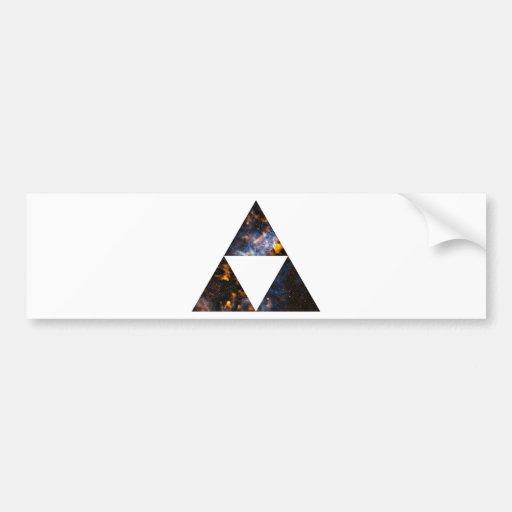 Triángulos cósmicos pegatina para auto