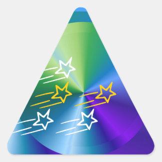 Triángulos de amor y mordeduras de la serpiente pegatina triangular