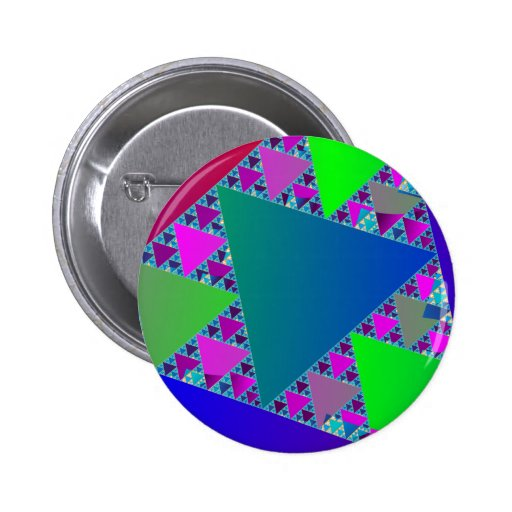 Triángulos de Sierpinski Pin Redondo De 2 Pulgadas