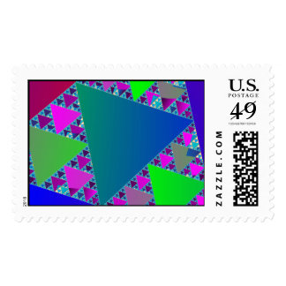 Triángulos de Sierpinski Timbres Postales