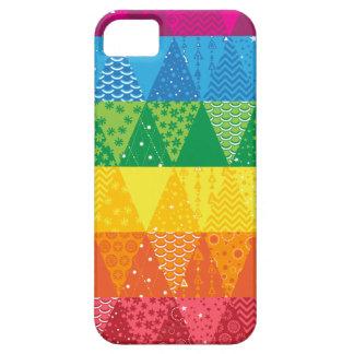Triángulos del arco iris iPhone 5 carcasa