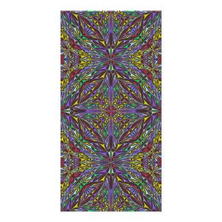 Triángulos del caleidoscopio tarjeta fotografica