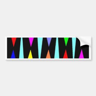 Triángulos del color pegatina para auto