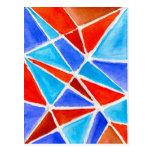 Triángulos del color tarjeta postal