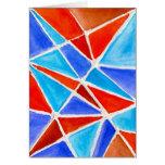 Triángulos del color tarjetón