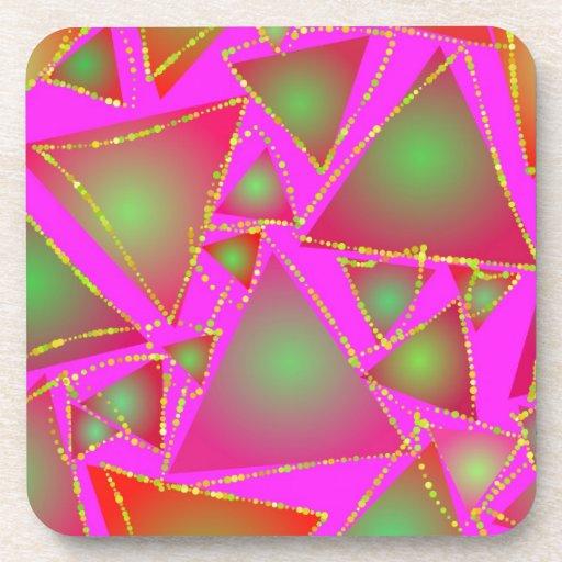 Triángulos del deslumbramiento posavaso