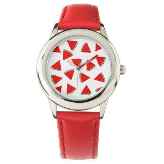 Triángulos del modelo de la sandía relojes de pulsera
