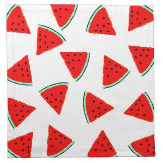 Triángulos del modelo de la sandía servilleta