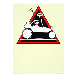 Triángulos del peligro del CARRIL de la ARENA de Invitación 13,9 X 19,0 Cm