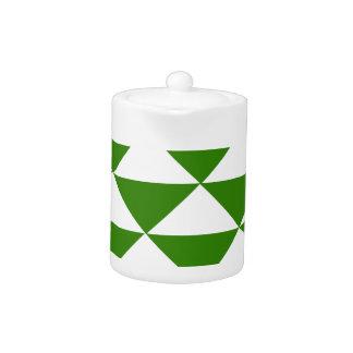 Triángulos del verde y del blanco de hierba