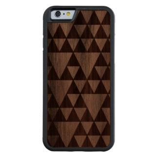 Triangulos en madera funda de iPhone 6 bumper nogal
